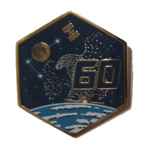OFFICIAL NASA ISS 60 SPACE STATION PIN